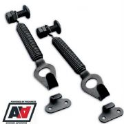 Grayston Competition Black Steel Spring Clips For Car Bonnets & Boots